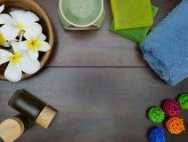 aromatherapy, σαπούνι, amd πετσέτα Στοκ Εικόνες