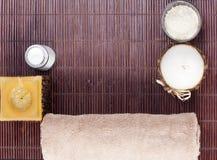 aromatherapy όμορφη καθορισμένη SPA Στοκ φωτογραφία με δικαίωμα ελεύθερης χρήσης