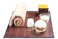 aromatherapy όμορφη καθορισμένη SPA Στοκ Φωτογραφίες