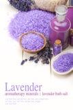 aromatherapy минералы лаванды Стоковая Фотография