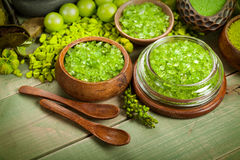aromatherapy зеленые минералы стоковая фотография rf