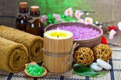 aromatherapy温泉 免版税库存图片