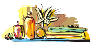 Aromatherapy illustration stock