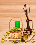 Aromatherapy accessories Royalty Free Stock Images
