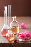 Aromatherapy and alchemy with pink flowers. Aromatherapy and alchemy with pink begonia flowers Stock Images