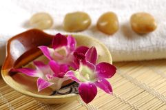 Aromatherapy assessories Royalty Free Stock Photos