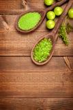 Aromatherapy background - bath salt Royalty Free Stock Image