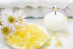 Aromatherapy BADEKURORT-Set Lizenzfreie Stockbilder
