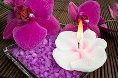 Aromatherapy BADEKURORT-Set Lizenzfreie Stockfotos