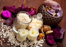 Aromatherapy - bath salt Royalty Free Stock Images