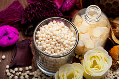 Aromatherapy - bath salt Stock Photos