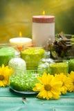 Aromatherapy - bath salt Royalty Free Stock Image