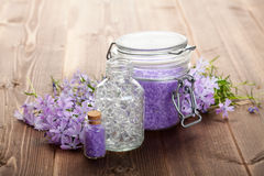 Aromatherapy bath salt Royalty Free Stock Image