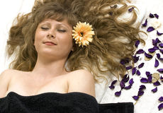 Aromatherapy in beauty spa Stock Photo