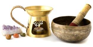 Aromatherapy burner isolated on white background Royalty Free Stock Images