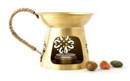 Aromatherapy burner isolated on white background Stock Photography