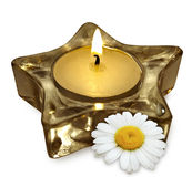 Aromatherapy candle Royalty Free Stock Photo