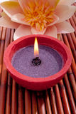 aromatherapy candle flower spa Στοκ εικόνες με δικαίωμα ελεύθερης χρήσης