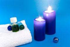 A aromatherapy with candle light Royalty Free Stock Image