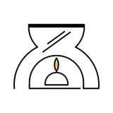 Aromatherapy candle spa isolated icon Royalty Free Stock Photography