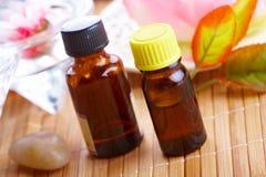 Aromatherapy dans des bouteilles Photographie stock libre de droits