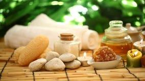 Aromatherapy de los tratamientos del balneario almacen de video