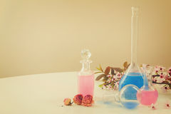 Aromatherapy - dry flowers and potions Stock Photo