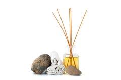 Aromatherapy en blauwe kosmetische klei Stock Fotografie