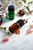 Aromatherapy en wetenschap stock foto