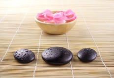 Aromatherapy, essential bath stock image