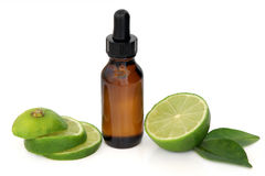 Lime Essential Oil Royalty Free Stock Photos