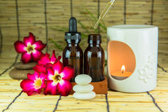 Aromatherapy essential oil and the burner Stock Photography
