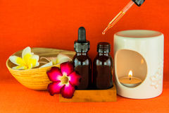 Aromatherapy essential oil and the burner Royalty Free Stock Image