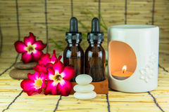 Aromatherapy essential oil and the burner Stock Photo