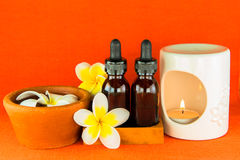 Aromatherapy essential oil and the burner Royalty Free Stock Photography