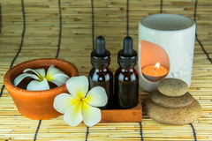Aromatherapy essential oil and the burner Royalty Free Stock Images