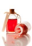 Aromatherapy essential oil and sea salt Stock Photo