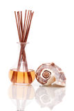Aromatherapy or essential oils. With seashell Stock Photo
