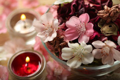 aromatherapy evening spa Στοκ φωτογραφίες με δικαίωμα ελεύθερης χρήσης