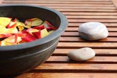 Aromatherapy Flower Bowl Stock Photography