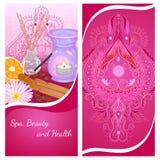 Aromatherapy flyer Stock Image
