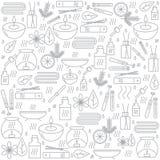 Aromatherapy Fond avec des icônes pour l'aromatherapy et la relaxation Configuration pour la conception Image libre de droits