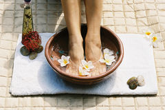 Aromatherapy footsoak stock photography