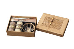 Aromatherapy gift box isolated Stock Images
