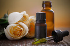 Aromatherapy. Herbal medicine with dropper royalty free stock photography
