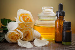 Aromatherapy. Herbal medicine with dropper Stock Photography