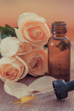 Aromatherapy. Herbal medicine with dropper-Filtered Image royalty free stock photos