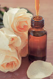 Aromatherapy. Herbal medicine with dropper-Filtered Image stock image