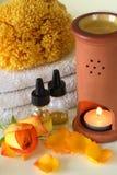 Aromatherapy het kuuroord nam toe Stock Foto