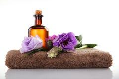 Aromatherapy i masażu olej Obraz Royalty Free